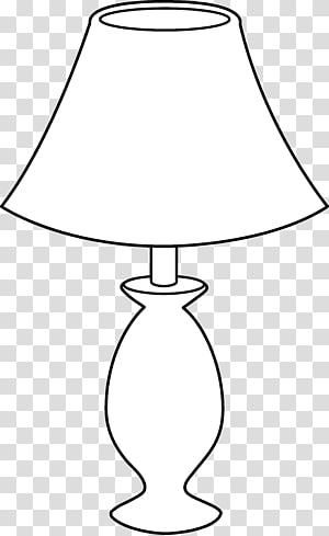 Table Lamp Black and white Incandescent light bulb , Lamp.