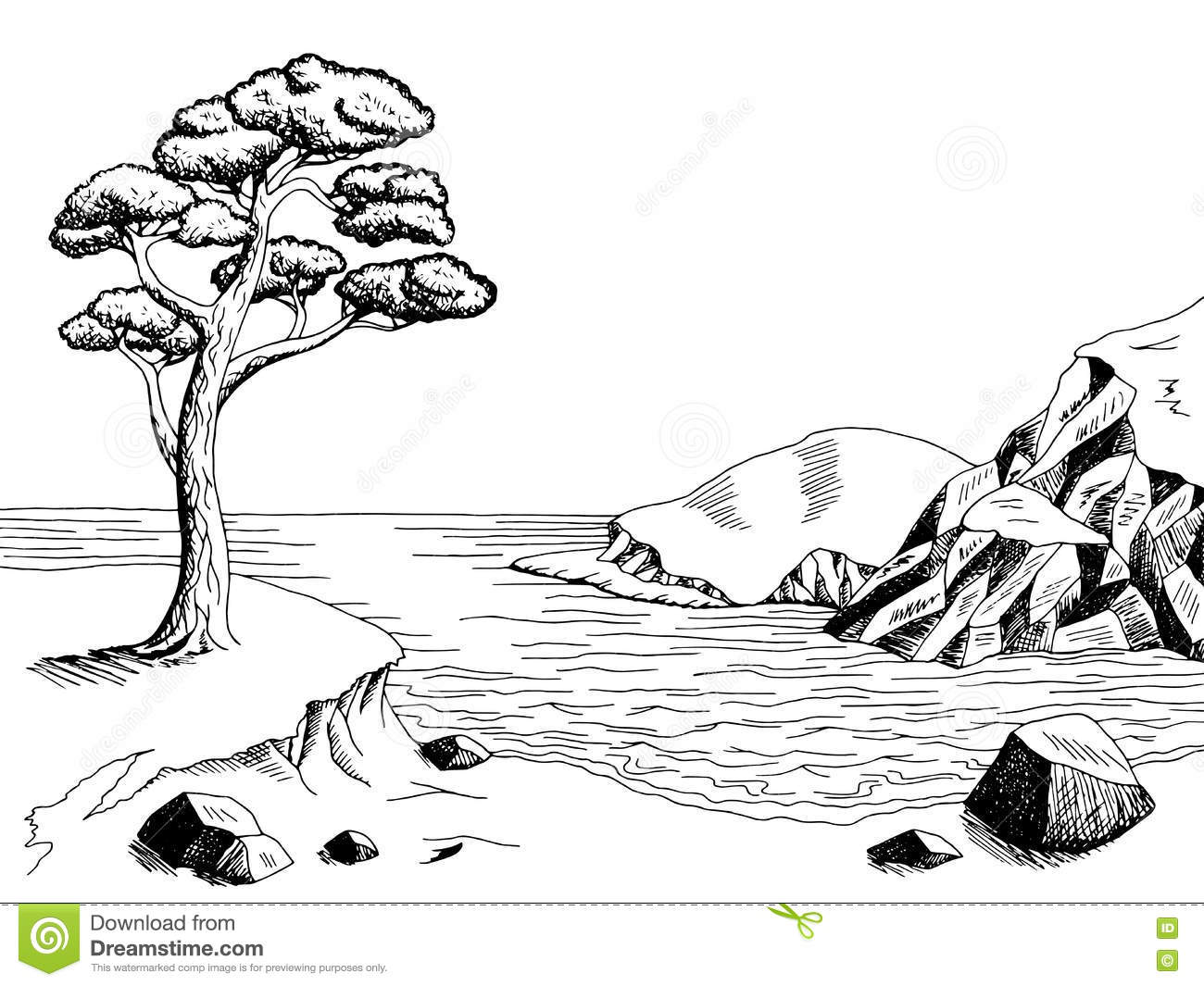 Landscape clipart black and white 5 » Clipart Station.