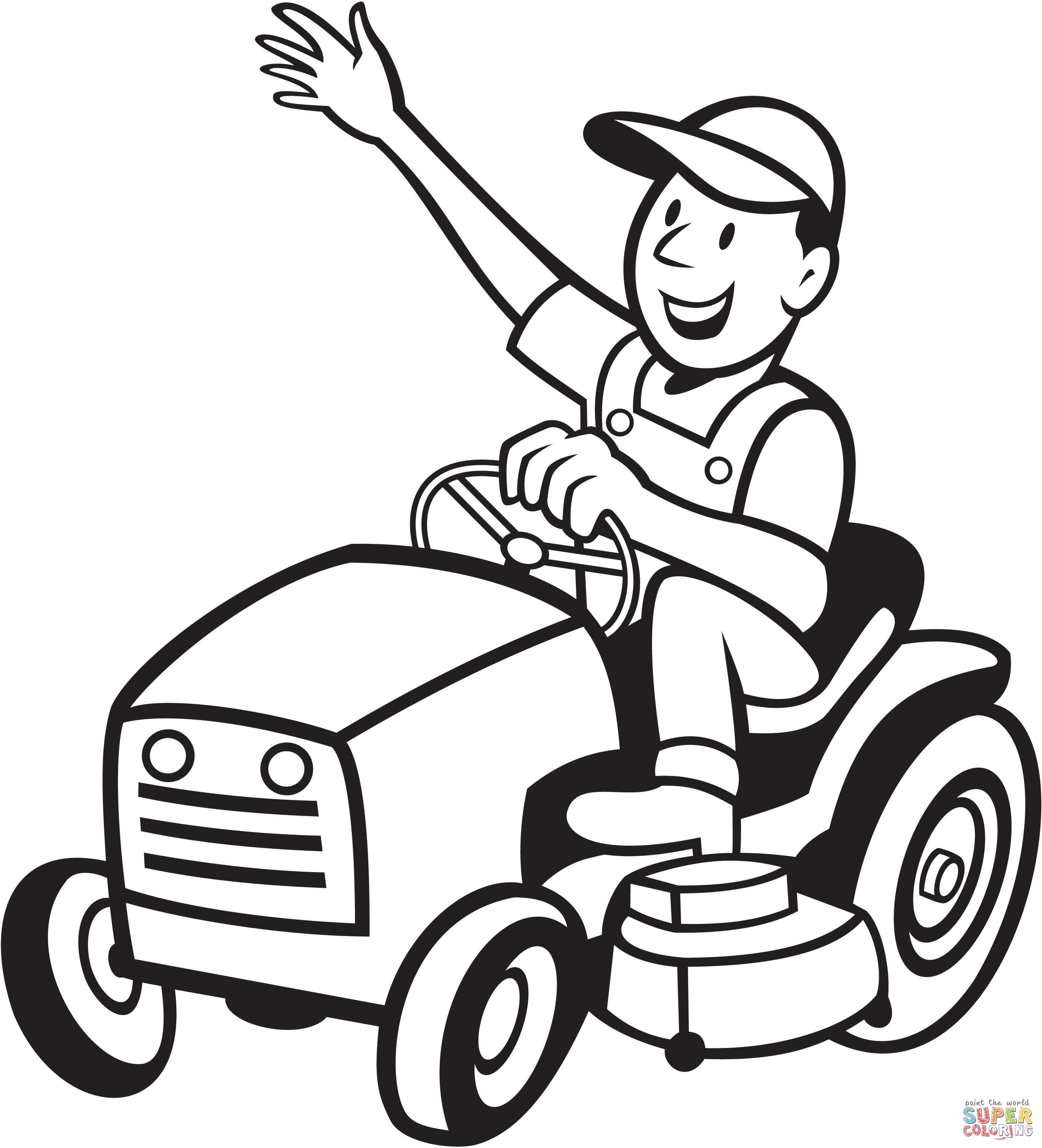 Lawn mower clipart black and white 1 » Clipart Station.
