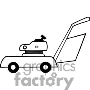 Lawn Mower Clipart Black And White.