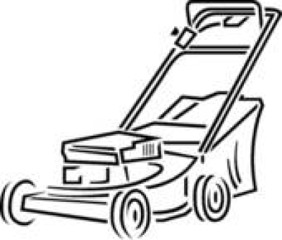 Lawn Mower Clipart Black And White PNG.