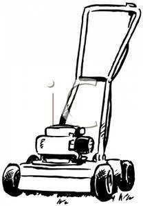 Black and white lawn mower clipart 1 » Clipart Portal.
