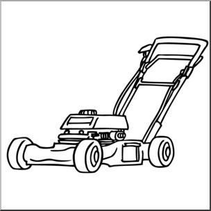 Lawn mower clipart black and white 1 » Clipart Portal.