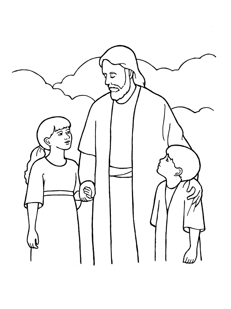 Lds Jesus Clipart Black And White.
