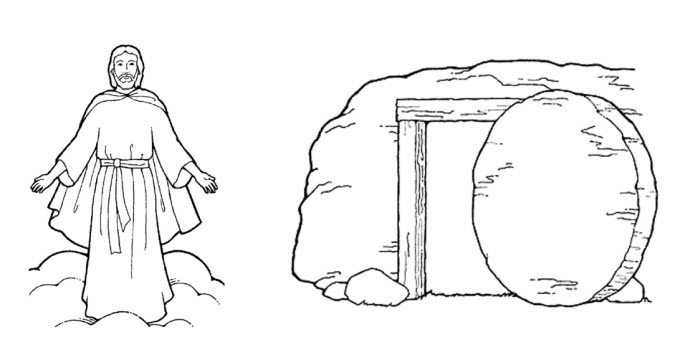 Black and white lds clipart easter clipground for Lds easter coloring pages