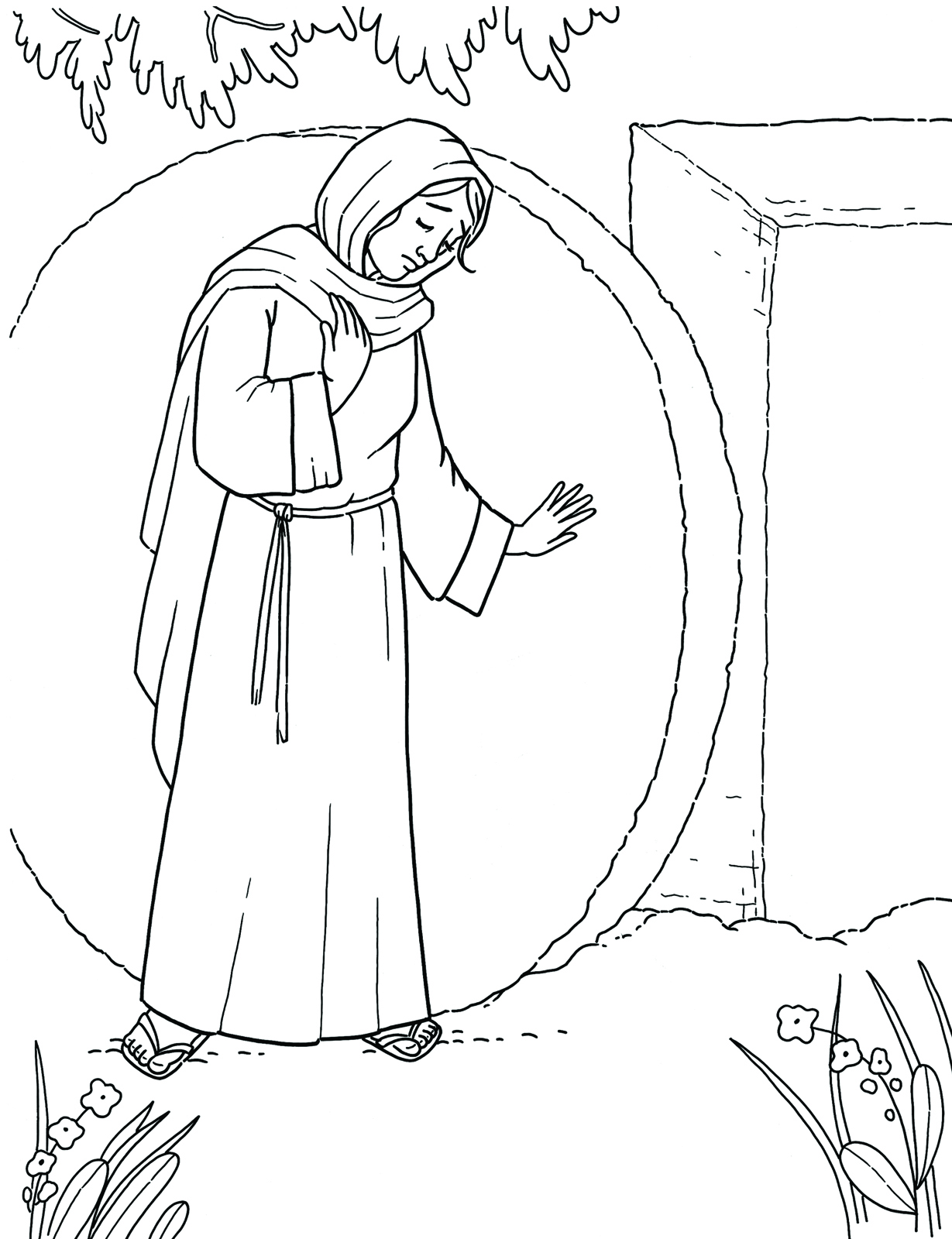 Lds Clipart Risen Savior Open Tomb Black And White.