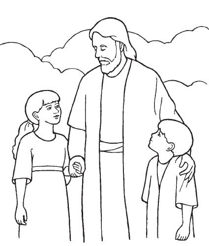 Lds jesus clipart black and white