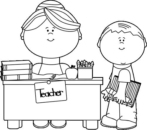 Black and white teacher clipart 4 » Clipart Station.