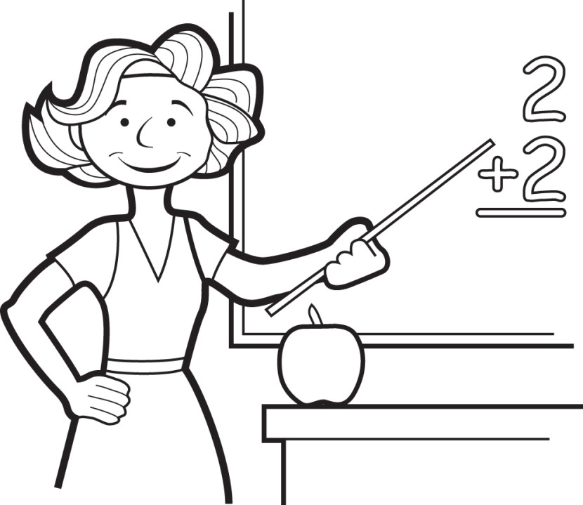 Teacher Clipart Images Black And White.