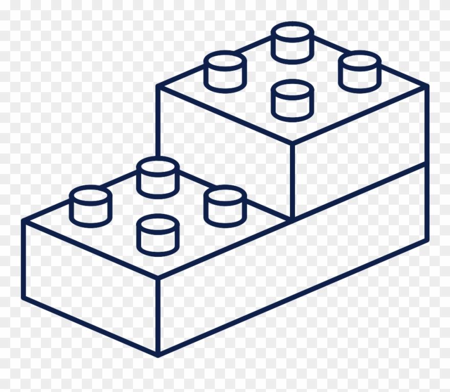 Legos clipart black and white, Legos black and white.