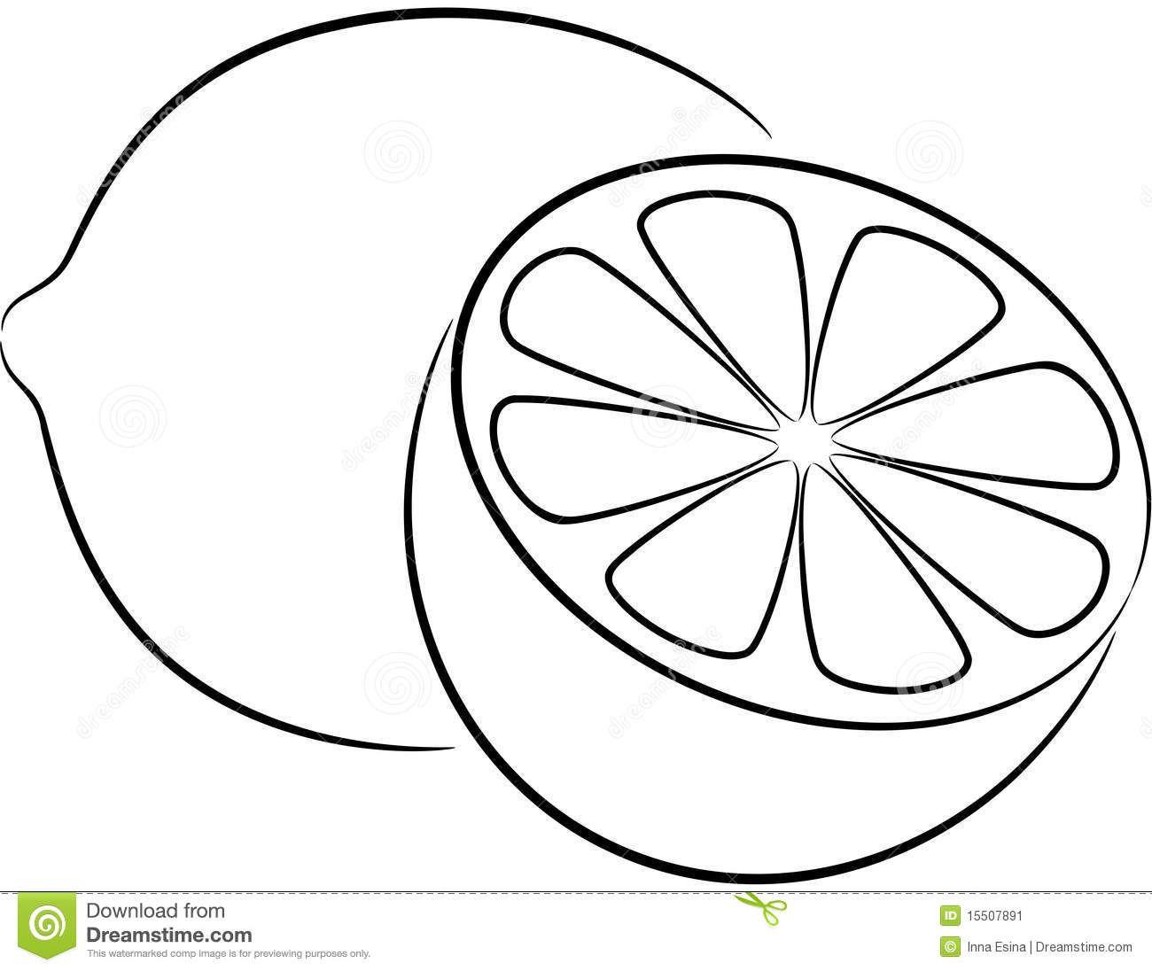 Lemon Clipart Black And White.