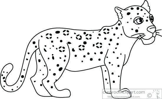 1145 Leopard free clipart.