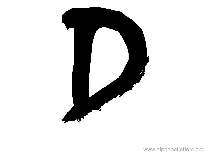 Words With Letter D Clipart Black And White.