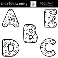 Polka Dot Alphabet Clip Art.