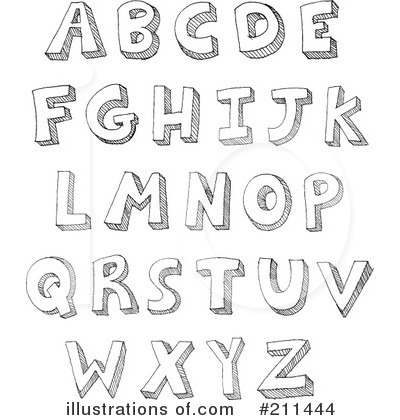 Free Alphabet Clipart Black And White.