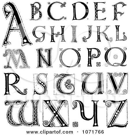 Print Decorative Alphabet Letters.