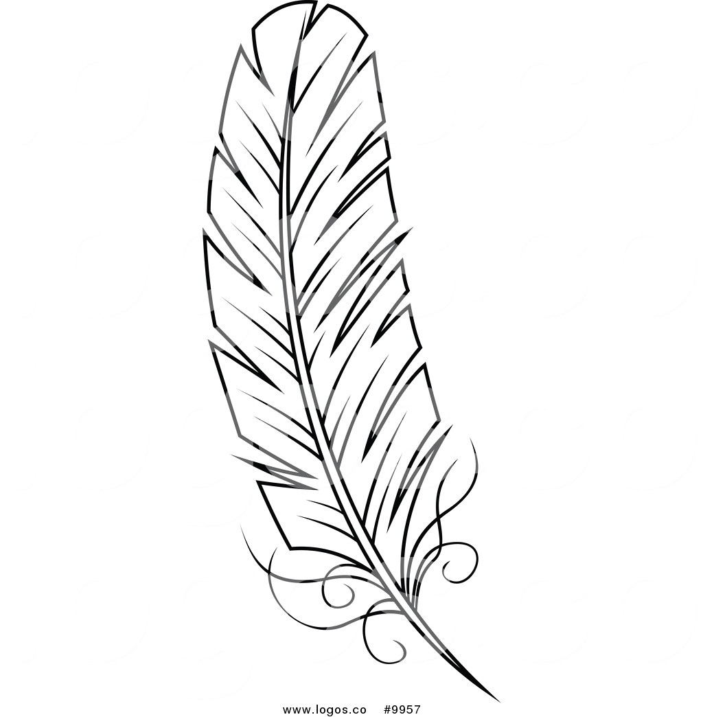Feather clipart black and white 2 » Clipart Station.