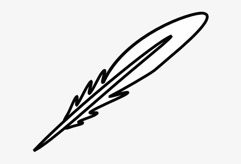 Black And White Feather Clip Art.