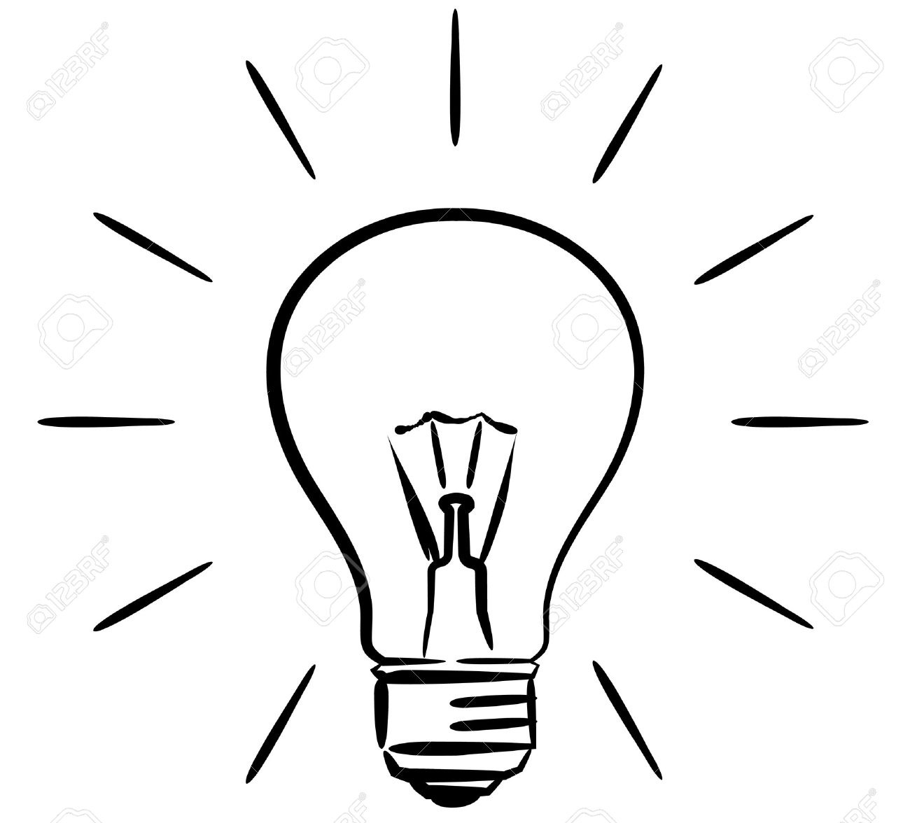 Light Bulb Clipart Black And White Images On Page 0.
