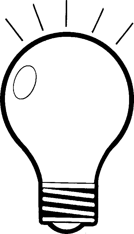 Free Black And White Light Bulb, Download Free Clip Art.