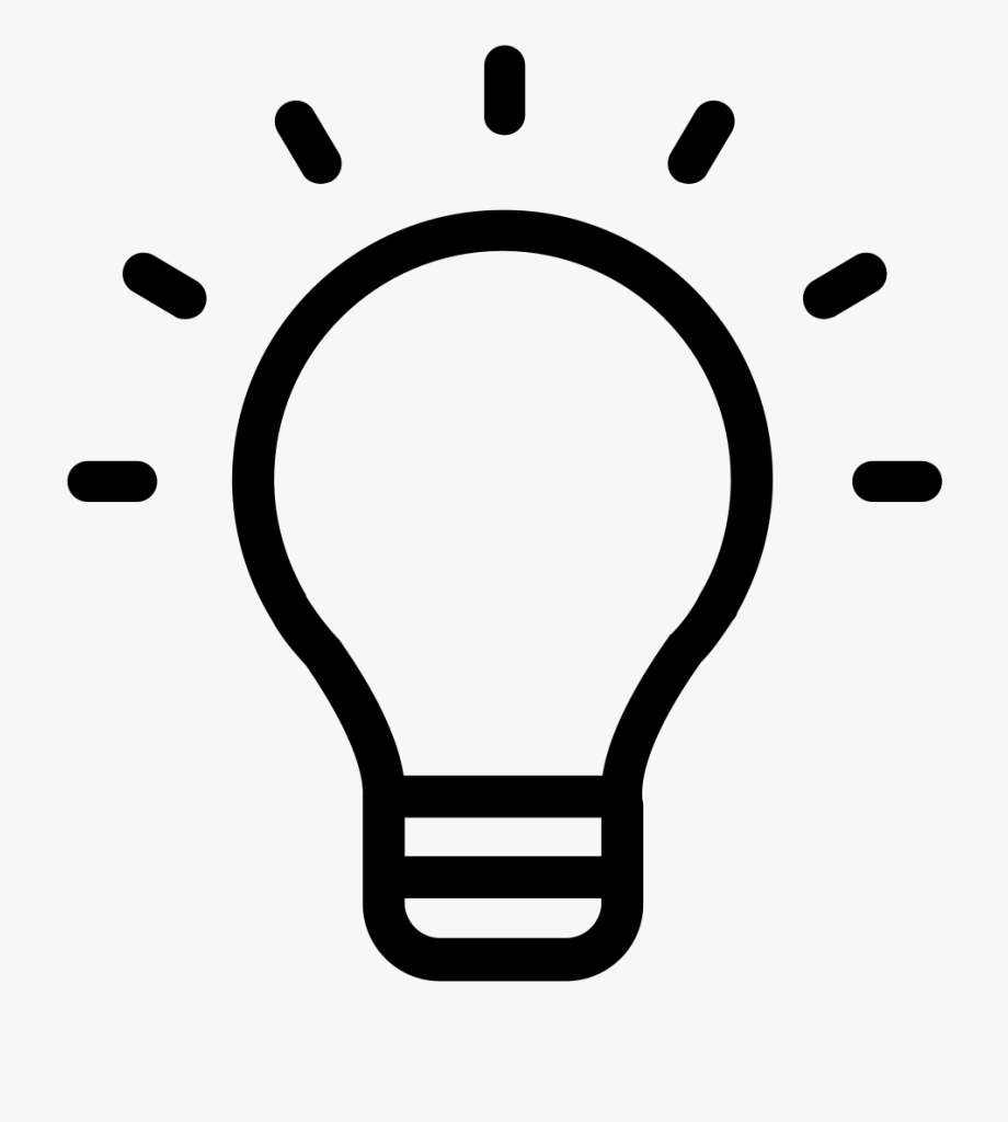 Lightbulb Clipart Research Paper.