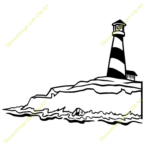 Lighthouse Clip Art Black And White Free.