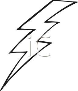 Black and White Lightning Bolt.