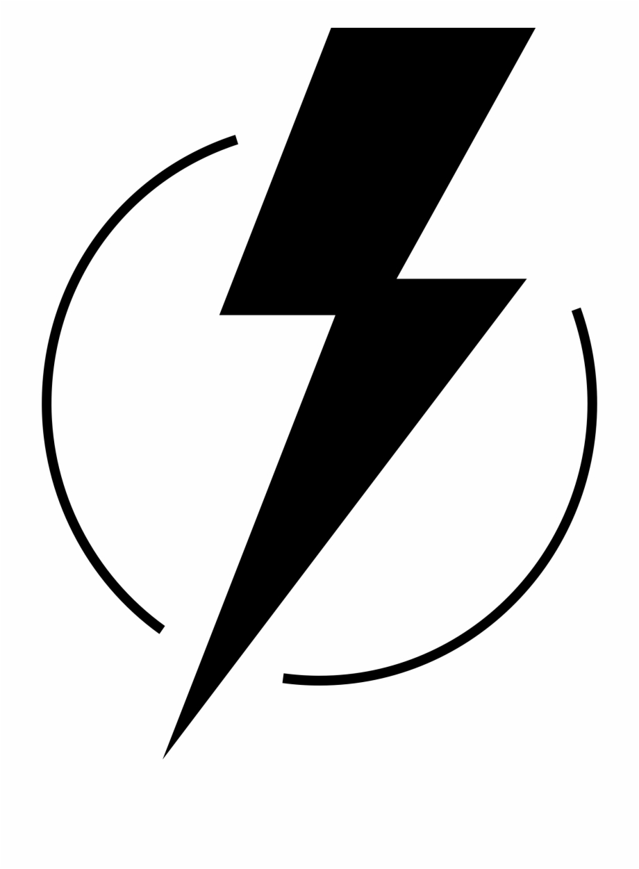 Black And White Lightning Bolt Clipart.