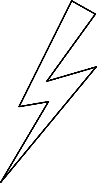 Black Lightning Bolt Clip Art at Clker.com.