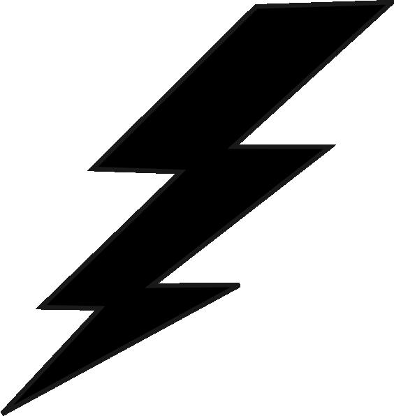 Lightning Bolt Clipart Black And White.