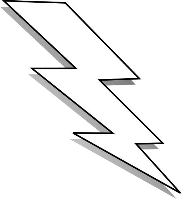 Lightning bolt black and white clipart kid 2.