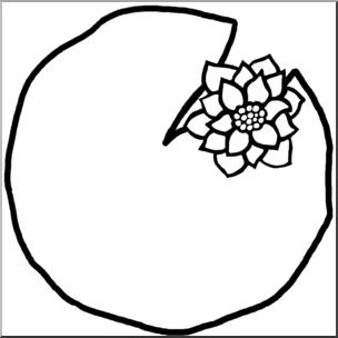 Lily Pad Clipart Black And White.