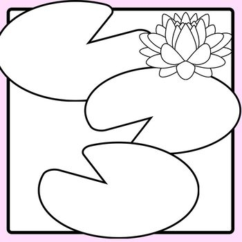 Lily Pad Blank Templates for Making Patterns or Board Games Clip Art.
