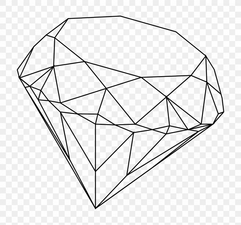 Drawing Diamond Line Art YouTube Clip Art, PNG, 2400x2248px.