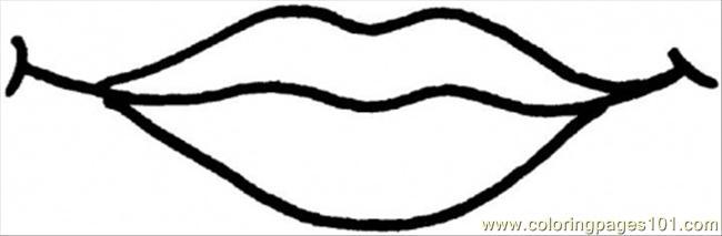 Lip Clipart Black And White.
