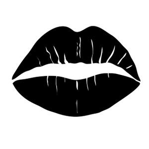 Lips black and white kiss lips black and white clipart.