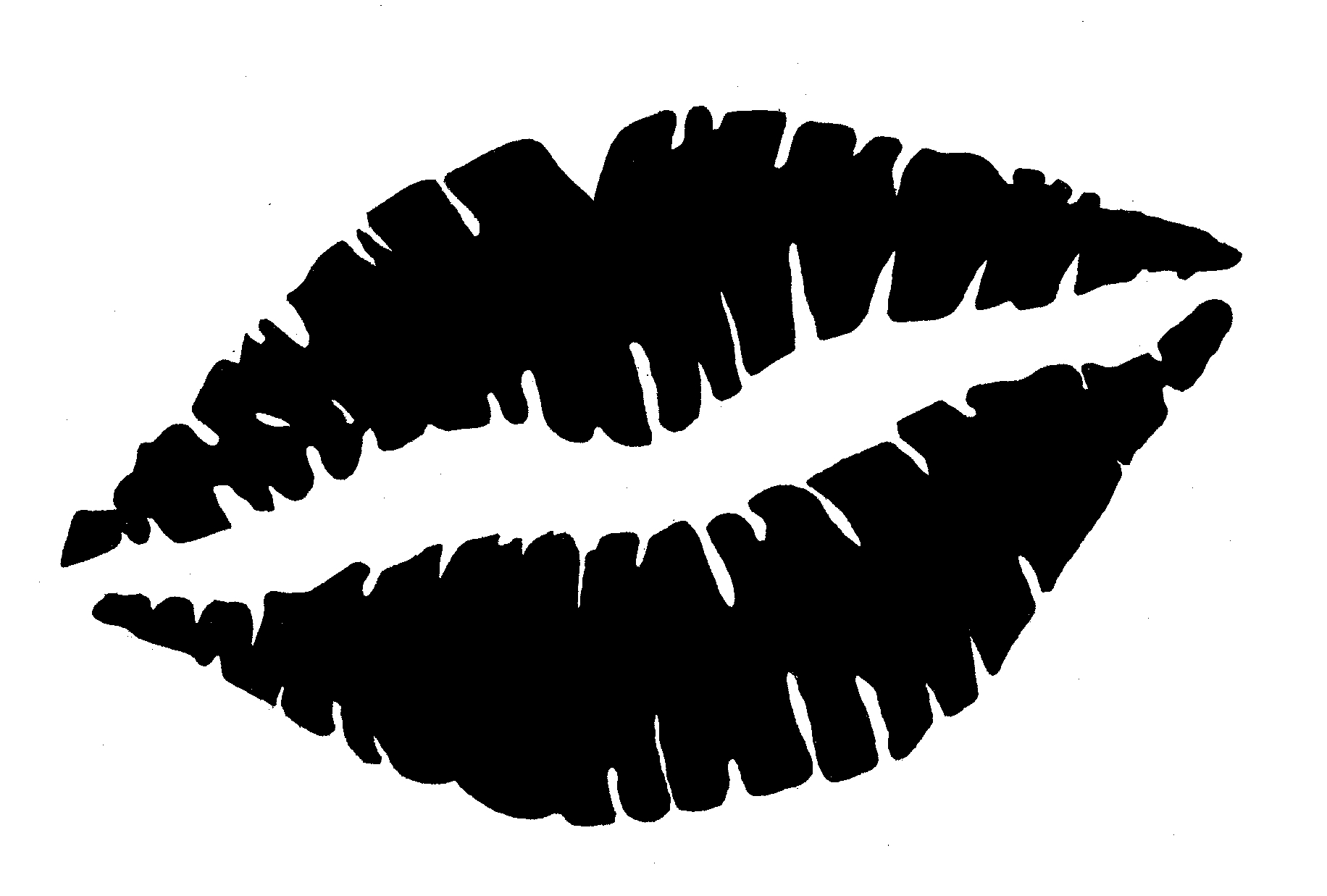 Lips clipart black and white Awesome Kiss clipart black and white.