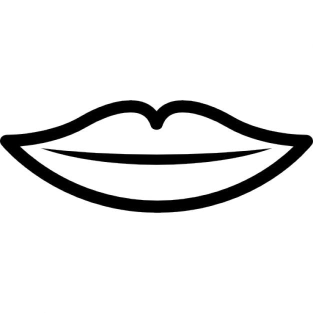 Lips black and white black and white clip art.
