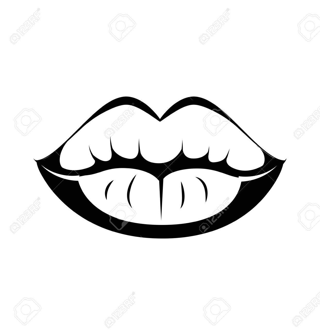 263 Kiss Lips free clipart.