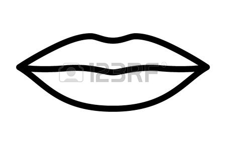 Lips black and white clipart 7 » Clipart Station.