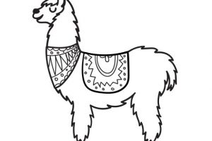 Llama clipart black and white » Clipart Station.