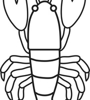 Lobster clipart black and white » Clipart Station.