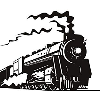 ufengke home Black and White Steam Train Wall Art Stickers.