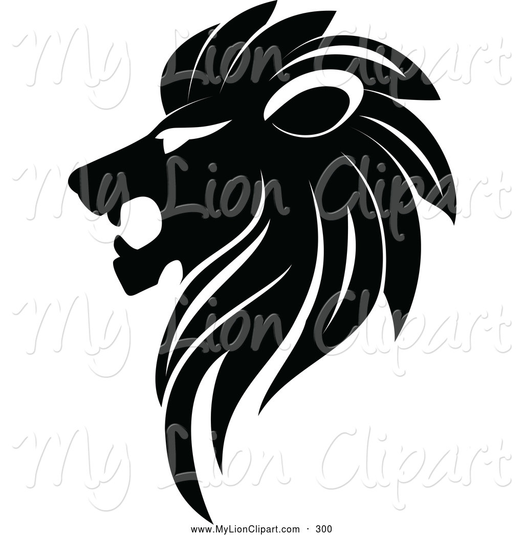 Lion Clipart Black And White.