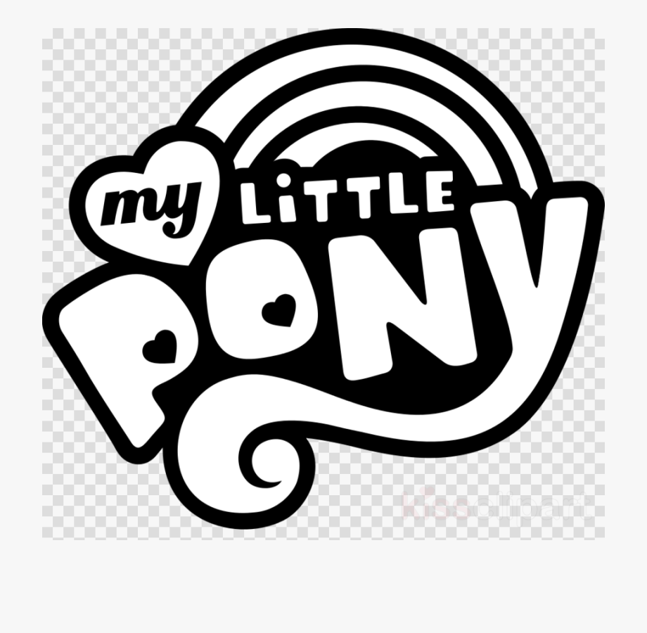 My Little Pony Logo Black And White Clipart Rainbow.