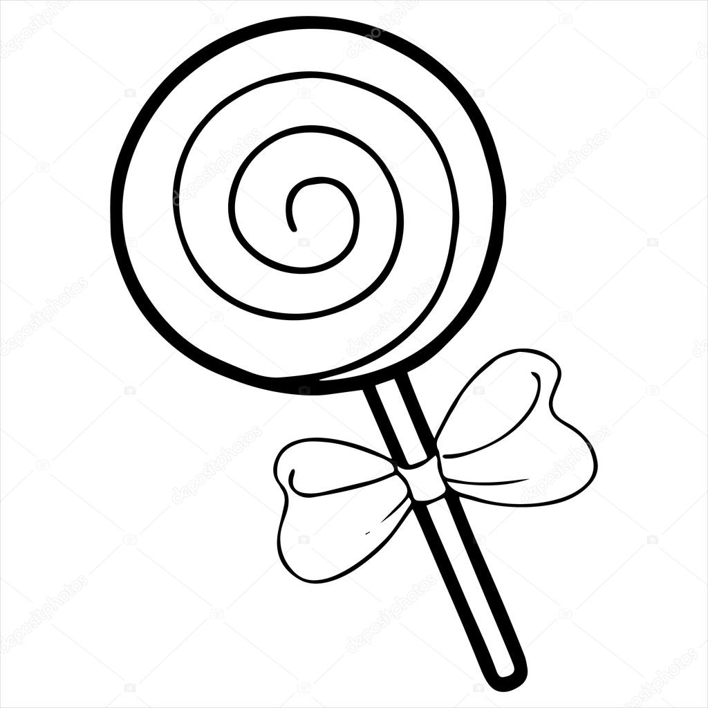 Lollipop clipart black and white 1 » Clipart Station.