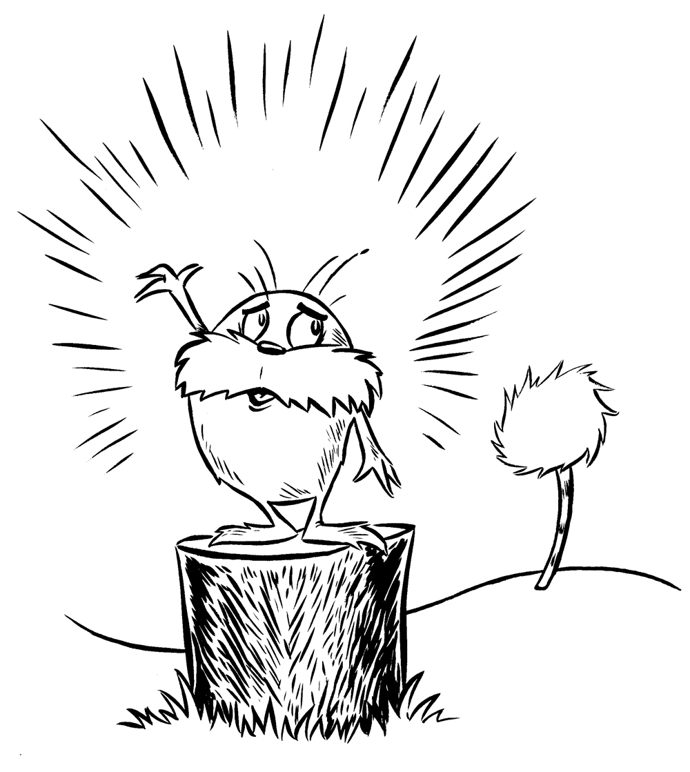 Free Lorax Black And White, Download Free Clip Art, Free.