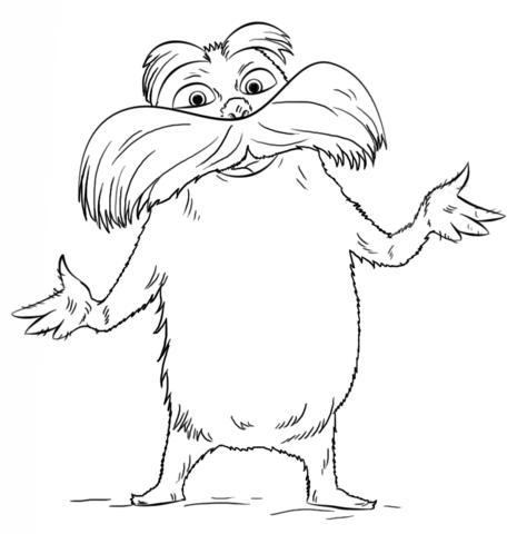 Lorax coloring page.