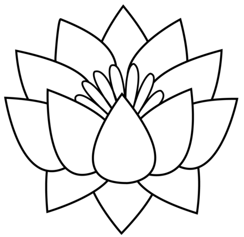 1079 Lotus Flower free clipart.