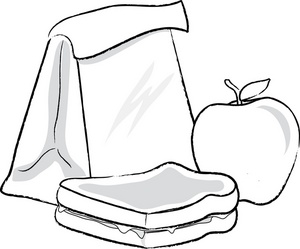 Free Lunch Clip Art Black And White, Download Free Clip Art.